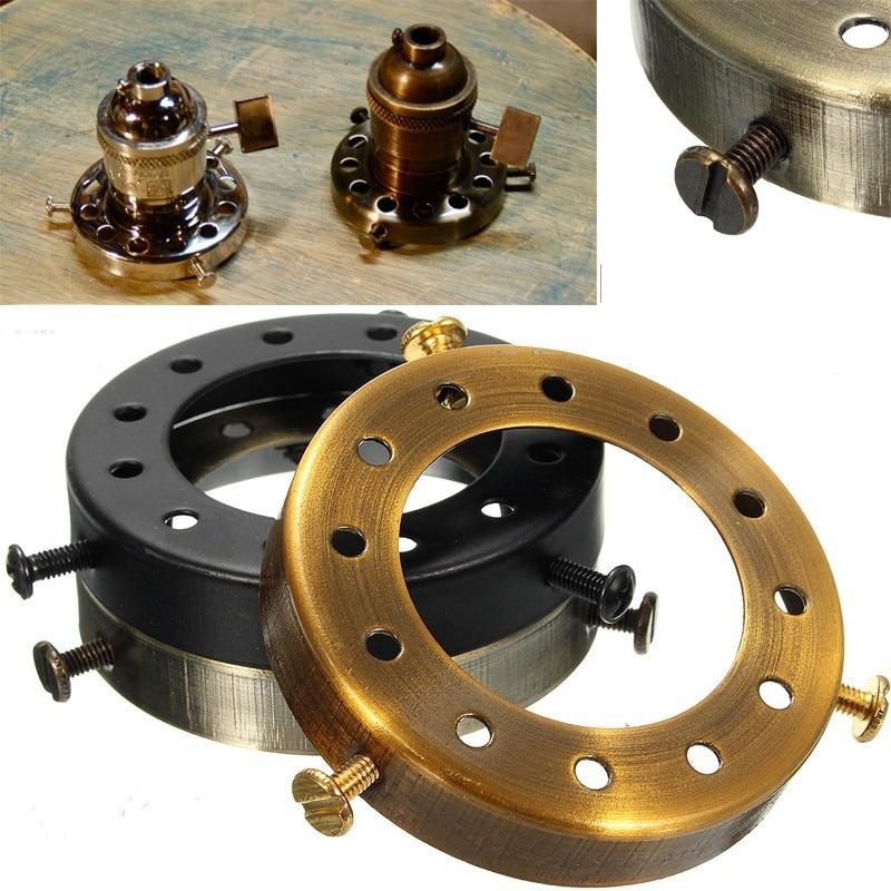 Solid Brass Thread Shade Fitter Edison Industrial Retro Cap Vintage Separate Pendant Light Socket Holder Lamp Bases New