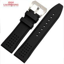 Laopijiang venda de reloj de goma para hombre correa de silicona 24 mm adaptador Pang Dahai relojes moda de accesorios