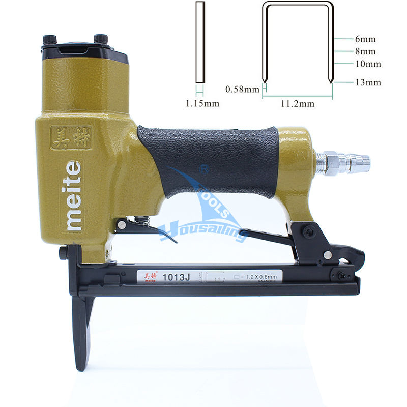 High Quality meite 1013JL Pneumatic Nail Gun Air Stapler Gun Nailing Tools Nailer Gun with Longer Nozzle 6-13mm kmt cn130 industrial pnematic coil nail gun coil nailer air nailer taiwan brand with great quality