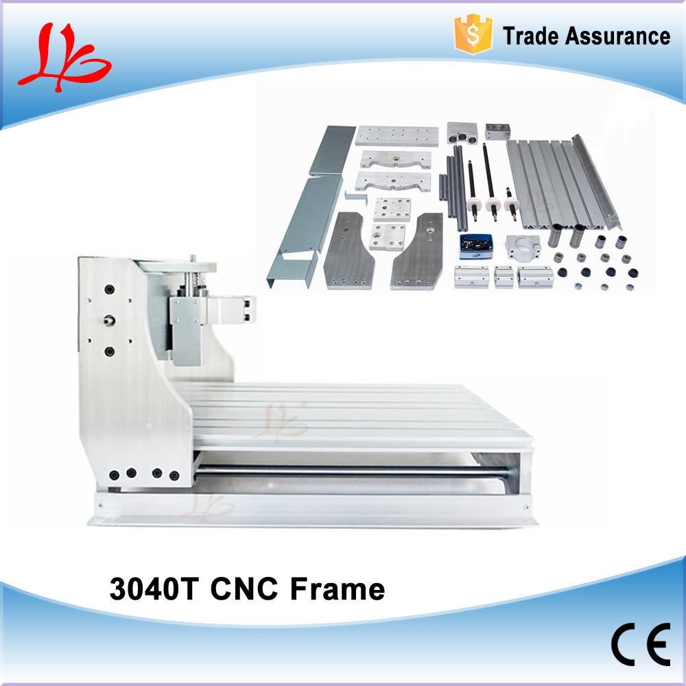 DIY CNC 3040 T frame parts, mini cnc engraving machine router lathe bed with Trapezoidal screw eur free tax cnc 6040z frame of engraving and milling machine for diy cnc router