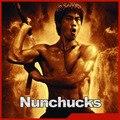 Bruce Lee Kongfu Nunchakus Metal Swivel & cadeia de Espuma Acolchoada Nunchaku Kung Fu Nunchucks SPT-004