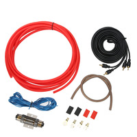 1500 W 8GA Car Audio Wire Cablaggio Amplificatore Subwoofer Altoparlante Installation Kit 8GA Cavo di Alimentazione 60 AMP Fuse Holder Alta qualità