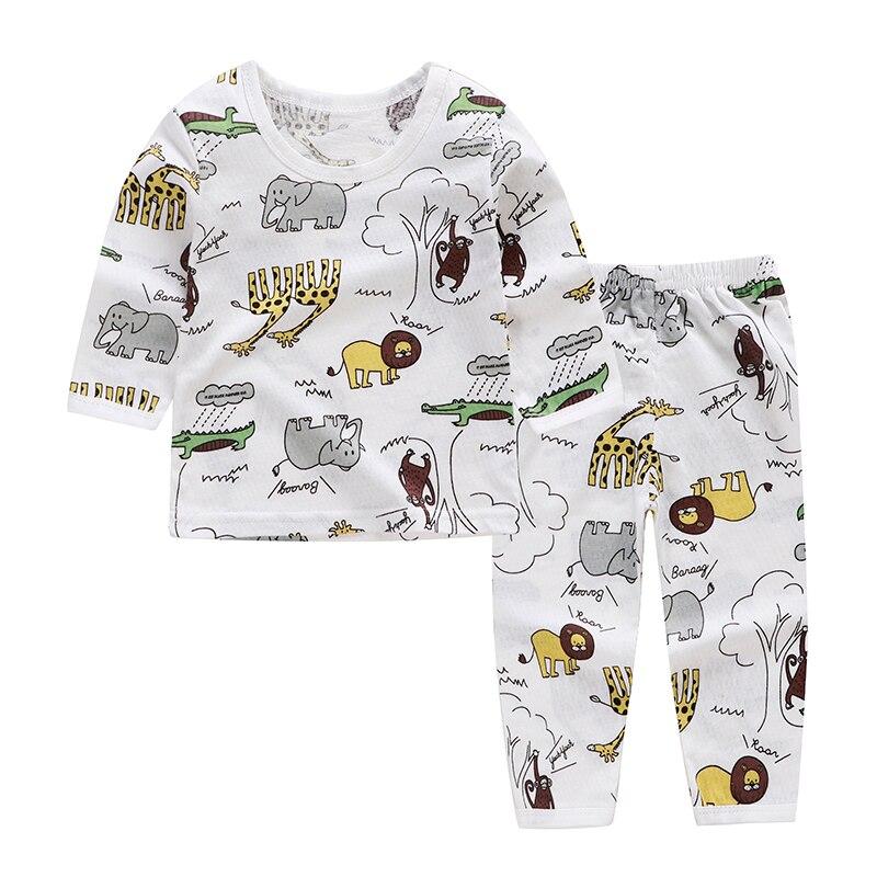 18m-6y Cartoon Kids Pajama Sets Cotton Long Sleeve Clothing Set Spring Winter Child Pyjamas Set Baby Girls Boys Sleep Wear