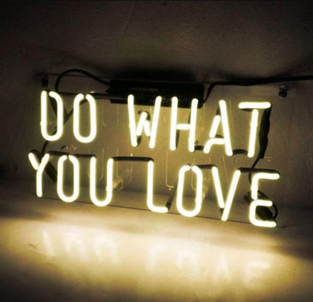 Custom DO WHAT YOU LOVE Blue White Red Pink Deep blue Purple Turquoise Green Yellow Glass Neon Light Beer Bar 2