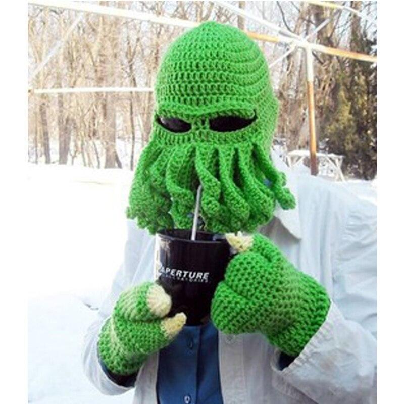 ทารกปลาหมึกหมวกของขวัญคริสมาสต์เด็กวัยหัดเดินทำด้วยมือโครเชต์สัตว์สไตล์H Andknitหมวกขนสัตว์...
