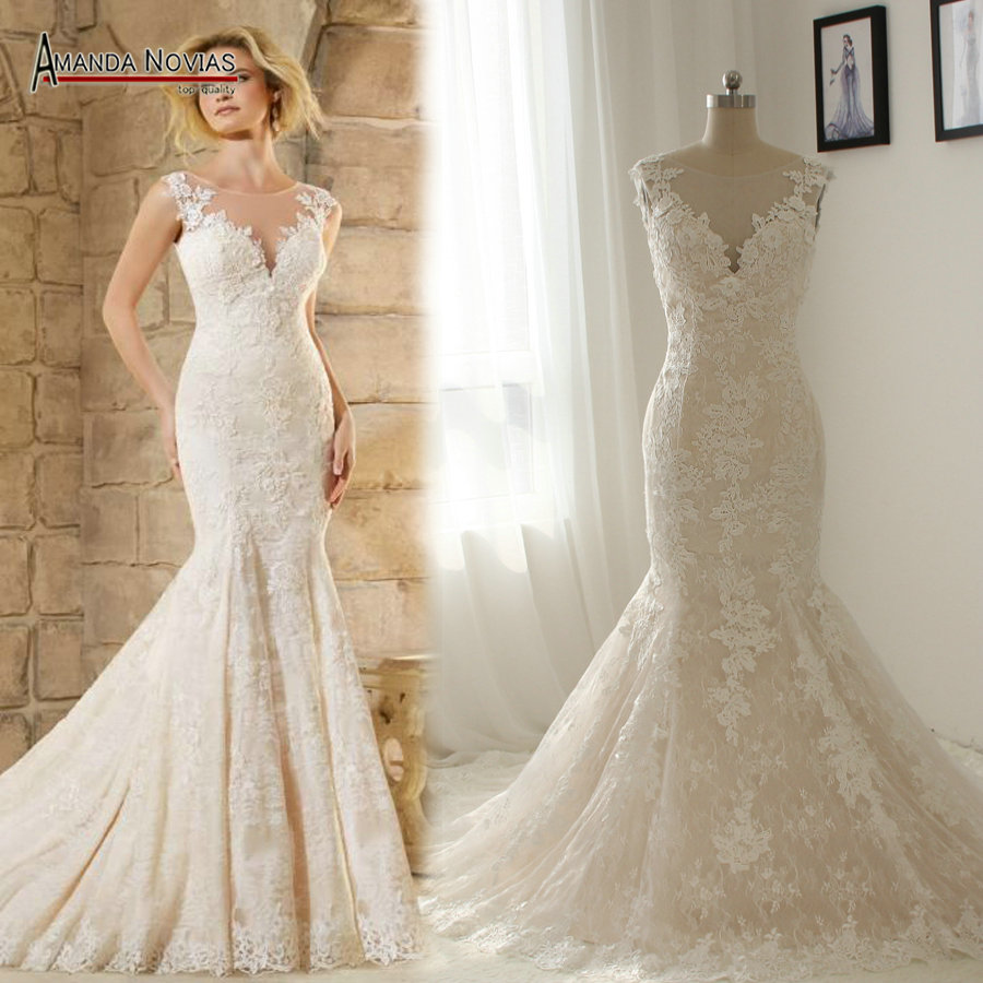 Buy ns1333 beautiful new model lace for Aliexpress mermaid wedding dresses