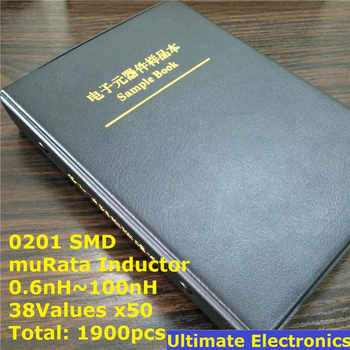 0201 muRata SMD Chip Inductors Assorted Kit 0.6nH~100nH 38Valuesx50 Sample Book - DISCOUNT ITEM  15% OFF All Category