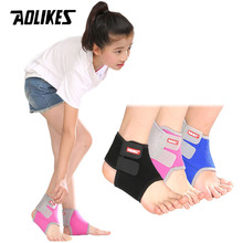 AOLIKES 1 Pair Chidren Kids Ankle Support Breathable Ankle Brace Protector Basketball Football Running