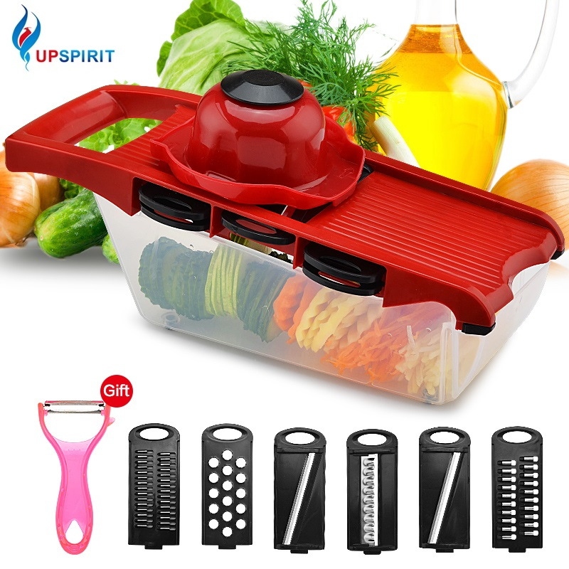Upspirit vegetales cortador de Frutas/vegetales Rallador con caja de plástico zanahoria patata frutas Shredders accesorios de cocina