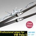 """Limpiaparabrisas cuchillas para volkswagen polo mk4 (2005-2009) 21 """"+ 19"""" fit ancho de pulsador tipo wiper armas solamente, no tipo delgado"""