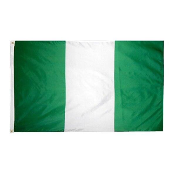 Johnin 90*150cm Green White  NGA NG Nigeria Flag For Decoration