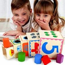 Kids Classic Wooden multi function five layer box Shape Kit, Security environmental intelligence Wood Educational kit toys