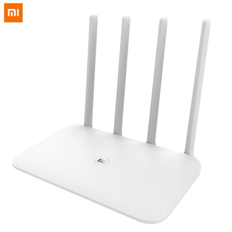 Routeur d'origine Xiao mi 4 mi Wifi répéteur 2.4G 5 GHz 1167 Mbps routeur intelligent Gigabit complet optique 128 mo mi Net connexion rapide APP