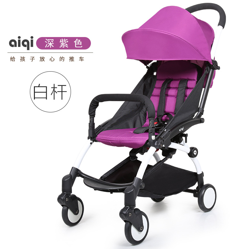 Aiqi  Baby Stroller  Super Light Umbrella Car Can Lie and Sit Folding Shock Absorbers newborn baby stroller european high view baby car can sit and lie super light folding umbrella caets can be on plane baby car