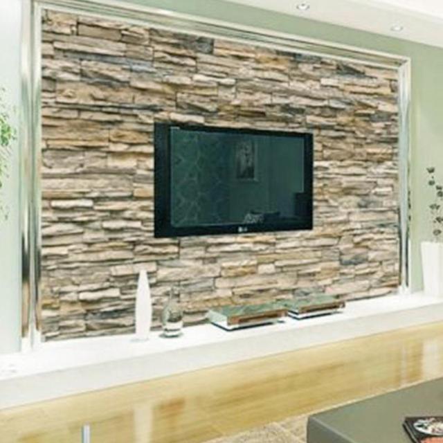 3d papier peint chambre salon murale rouleau moderne faux brique mur de pierre fond dans. Black Bedroom Furniture Sets. Home Design Ideas
