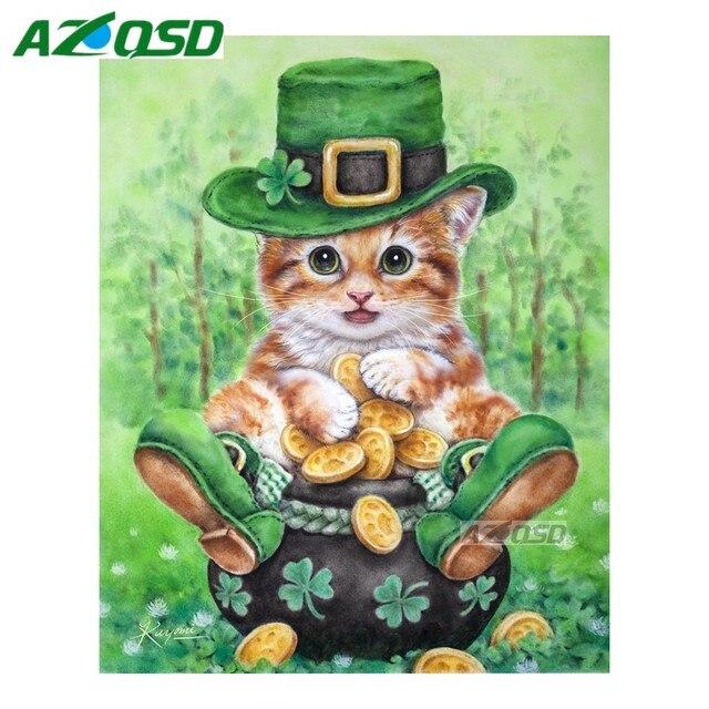 AZQSD DIY Diamond Painting Cross Stitch Kits For Wall Decor Green ...