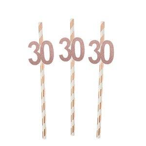 Image 3 - Chicinlife 30 ty temat balon na przyjęcie urodzinowe Cupcake Topper rekwizyty fotograficzne Banner słomy konfetti impreza dla dorosłych materiały dekoracyjne