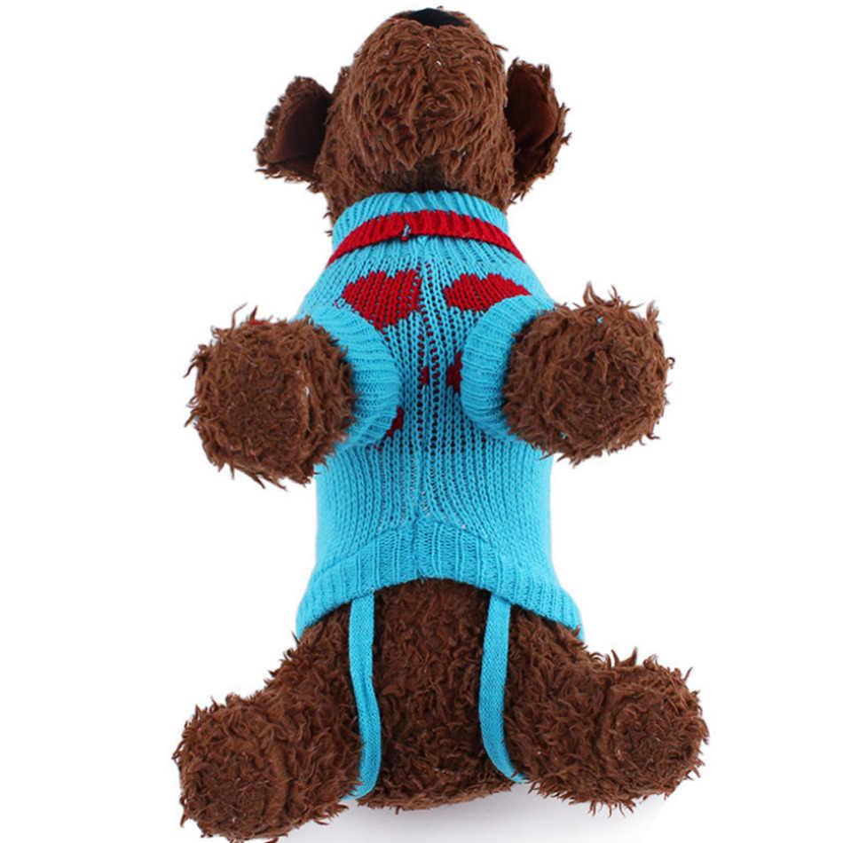 Питомец собачий свитер одежда зимний шерстяной свитер трикотажный свитер для щенка теплый свитер-накидка свитера для маленьких собак кошек вязаная одежда для собак