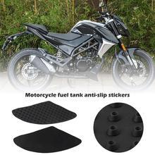 New 2019 Motorcycle 1pair Tank Anti Slip Stickers Knee Grip Protector Traction Pad Adhesive Side Sticker For Kawasaki Honda