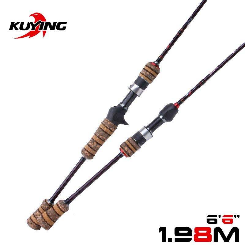 KUYING Teton L 1,98 m 6'6'' Baitcasting Casting Spinning Köder Angelrute Weiche Pole Cane Licht Carbon Fiber Medium Schnelle action