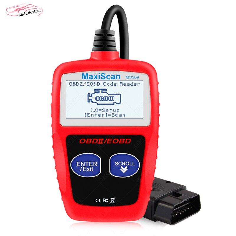 MaxiScan MS309 CAN BUS OBD2 автомобильный считыватель кодов EOBD OBD II диагностический инструмент MS 309 Автомобильный сканер кодов с многоязычным инструмен...
