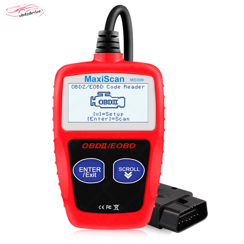 MaxiScan MS309 CAN BUS OBD2 car Code Reader EOBD OBD II Diagnostic Tool MS 309 car Code Scanner with Multi-languages ms 309 tool