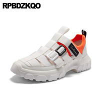 Men Gladiator Sandals Summer Platform Closed Toe Sport High Quality Designer Shoes White Outdoor Roman 2018 Sneakers Breathable
