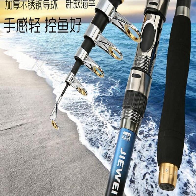 Stainless Steel Fishing Rod Throwing Rod 2.1 M 3.6 M Long Throwing Rod Plate Fishing Gear Metal Plugging
