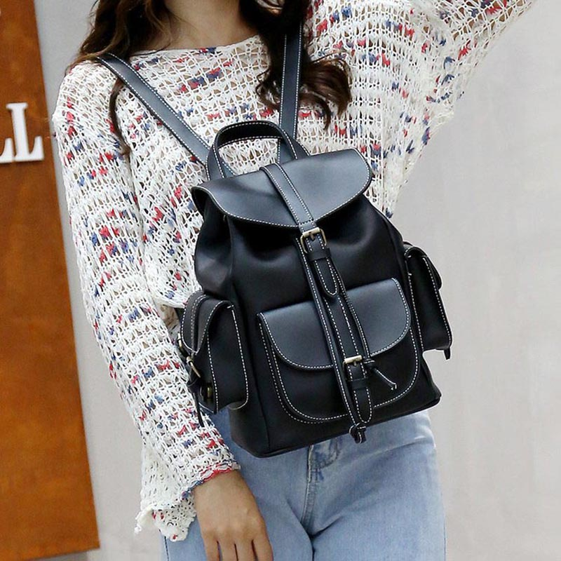 Backpack Women High Quality PU Leather Backpacks 1