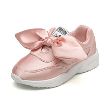 Girls Shoes Silk Cloth Four Seasons Children Casual Shoes Princess Kids Little Pink Fashion Sneakers Student Luxury High Quality