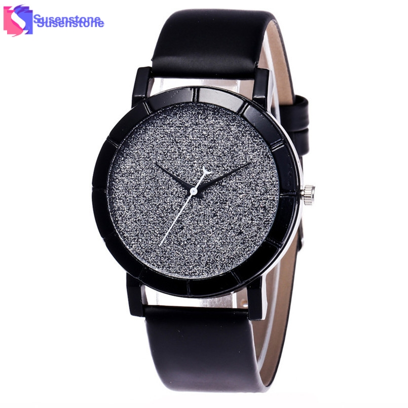 New Women Watches Leisure Time Leather Band Analog Quartz Watch Fashion Style Bling Pattern Dial Ladies Casual Clock Wrist Watch popular women watch analog with diamonds style round dial steel watch band