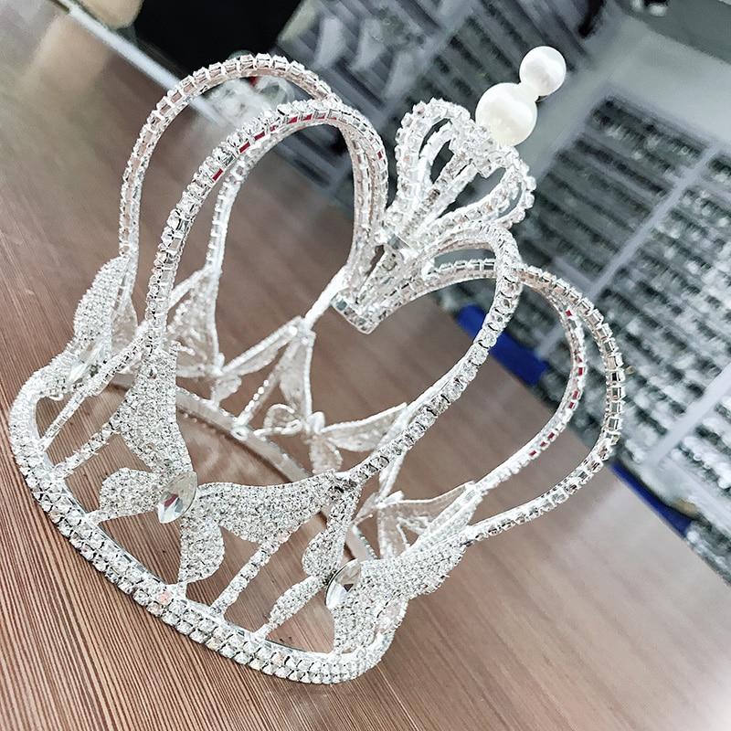 Здесь можно купить  Top quality crystal rhinestones glass Tiaras Wedding Hair Accessories Tiaras Crowns Bridal Round Crowns Hair Jewelry for women  Ювелирные изделия и часы