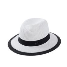 YUCCAS Star With a super large texture Panama hat summer female M brand new medium cap hat panama hat Chapeu
