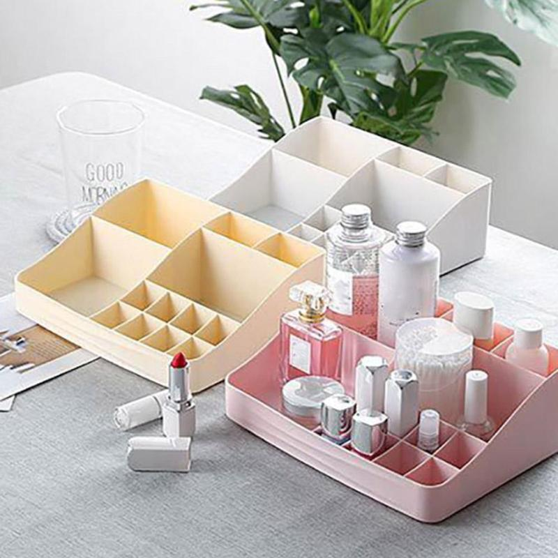 Home Desktop Storage Shelf Multi-grid For Cosmetic Organizer Paper Board Makeup Holder Jewelry Box Decoration #20