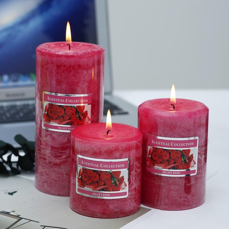 Bougies parfumées multicolores bougeoir romantique aromathérapie pilier bougie Festival fête d'anniversaire décoration de mariage à la maison