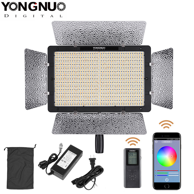 Yongnuo YN1200 Pro LED Video Light with 3200K to 5500K Adjustable Color Temprature for Canon Nikon Pentax SLR Camera Camcorders