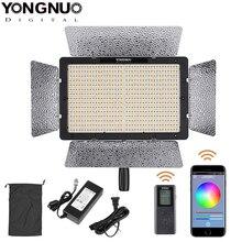 Yongnuo yn1200 pro led luz de vídeo com temperatura de cor ajustável de 3200k a 5500k para câmera de vídeo canon nikon pentax slr