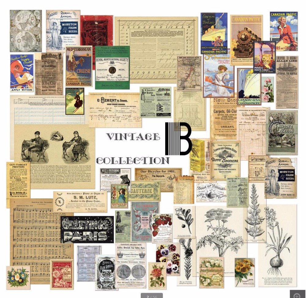 58pcs/pack Junk journal Vintage Series Old poster Material Paper Set for Scrapbooking DIY Projects/Photo Album/Card Making Craft plastic embossing foldet flower diy scrapbooking photo album card paper craft decoration template