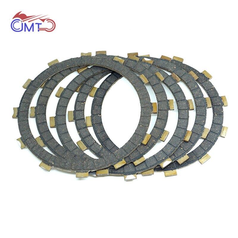 For Kawasaki Eliminator EL250 1988-1989 EX250 Ninja 250 1986 250R 1987-2007 ZZR250 1999-2007 Clutch Friction Disc Plate Kit 5PCs