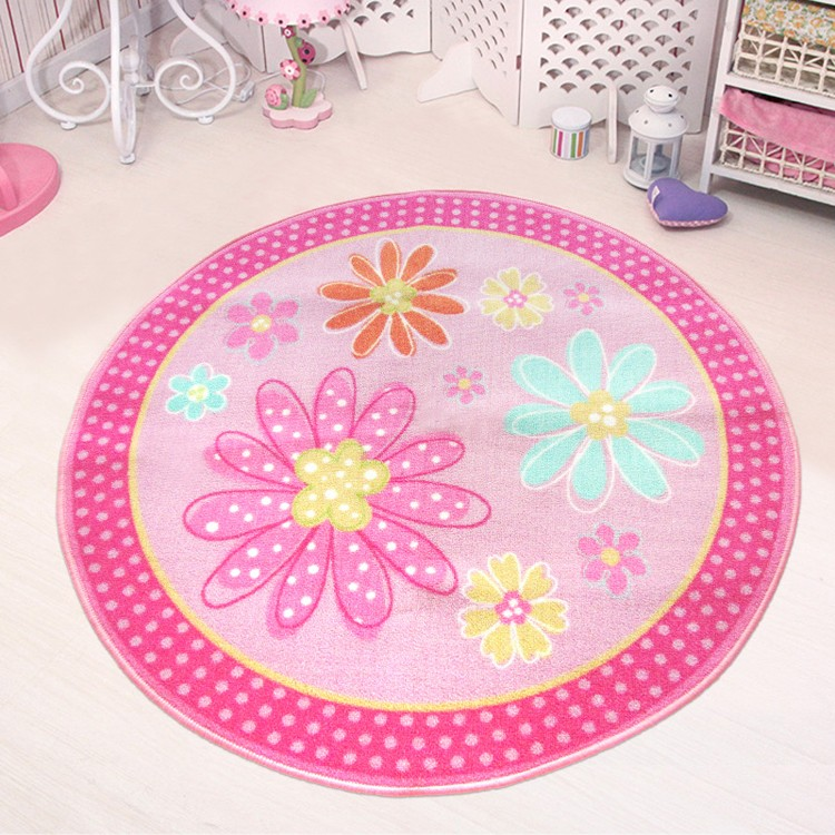 Lovely Child Girl Pink Flower Game Carpet Sofa Bed Mat Non Slip