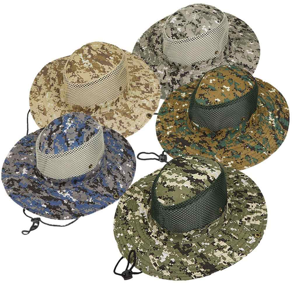 babc5ca0a04 ... Outdoor Sports Men   Women s Fishing Hat Camouflage Bucket Hat  Fisherman Camo Ripstop Jungle Bush Hats ...