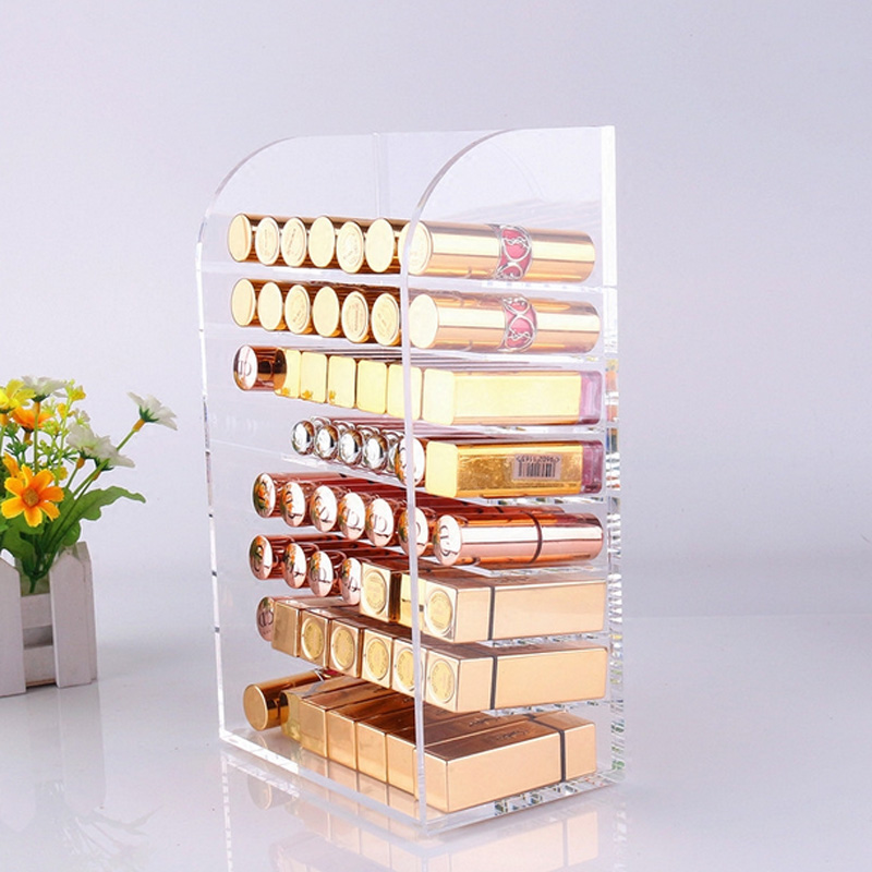 Mordoa Acrylic 8 Tiers Makeup Cosmetic Clear Acrylic Organizer Lipstick Jewelry Display Stand Holder Nail Polish Rack цена