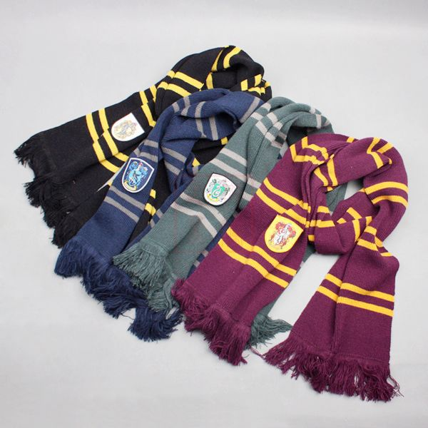 Hot 193CM Harri Potter Scarf Cosplay Costume Gryffindor Slytherin Ravenclaw Hufflepuff Cotton Scarf for For Kids Halloween Gift cotton hogwarts harri cosplay potter toys college gryffindor slytherin baseball hat summer cap hip hop magic hats toys for child