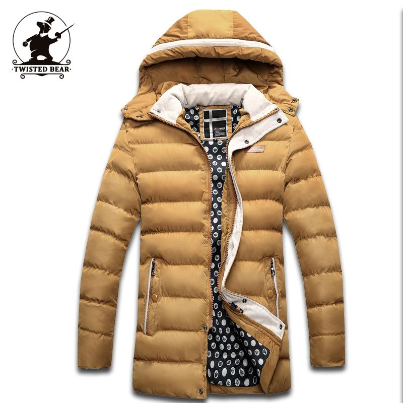 New Men s Winter Coats Fashion Hooded Thickened Quilted Jacket Men Designer Casual Plus Size Parka