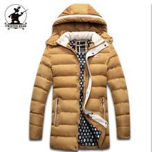 Новые мужские Зимние Пальто С Капюшоном Утолщенной Стеганые Куртки Мужчины Дизайнер Повседневная Плюс Размер Куртка L ~ 3XL D8F1528