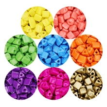 580pcs/lot czech glass seed beads for making bracelet necklace jewelry findings punk triangular colored spacer seedbeads