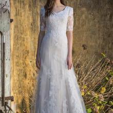Cecelle 2019 Long Vintage Mermaid Modest Wedding Dresses