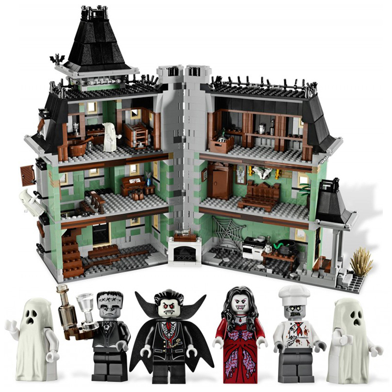 Monster Haunted House Building Blocks Movie Series Warrior Fighters 2141pcs Brick Compatible Lepin Toys Gifts For Children 16007 a toy a dream lepin 24027 city series 3 in 1 building series american style house villa building blocks 4956 brick toys