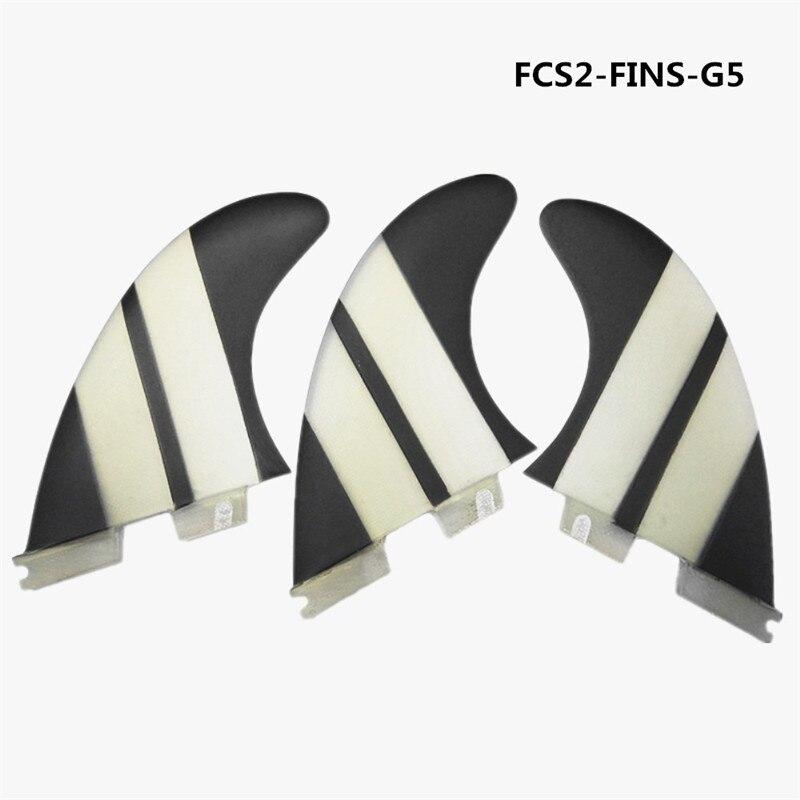 FCS II G5 Fins Blue Honeycomb Carbon Fin Surf Fins FCS2 G3,G7 Surfboard Fin Hot Sale top quality orange color fcs ii g7 l surfboard fins made by carbon and honeycomb tri set fcs 2 l thruster fin