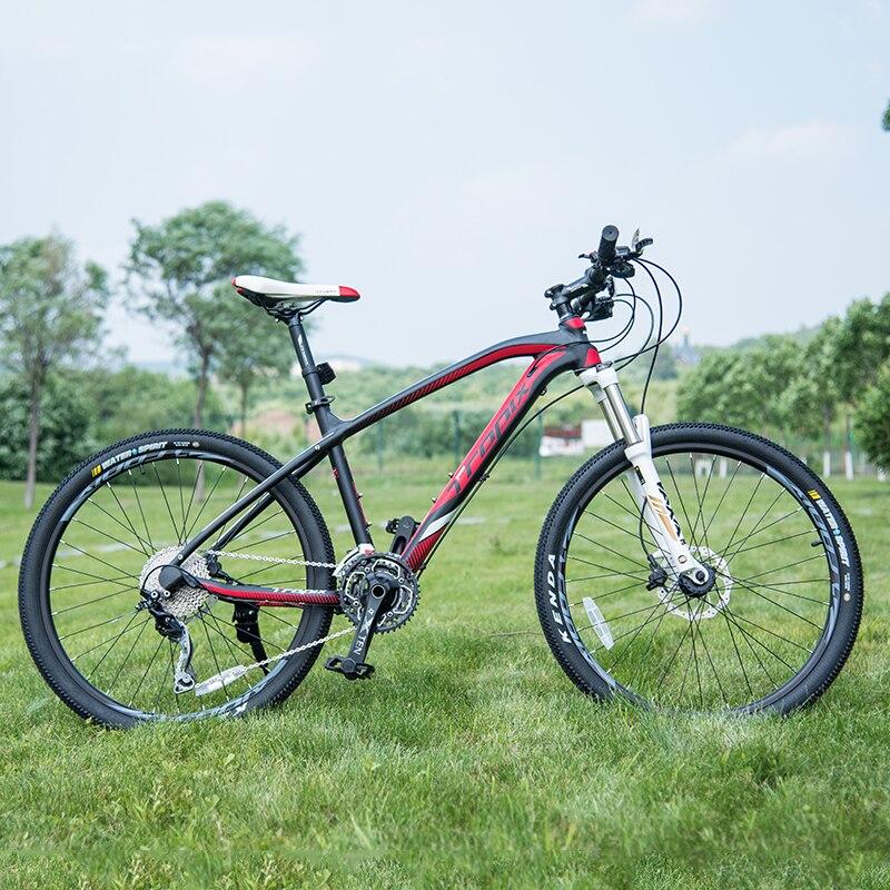 Hohe Qualität 26 zoll fahrräder Stahl 30 speed Aluminium rahmen mountainbike skid Pedal Hydraulische scheibenbremsen fahrrad TROPIX